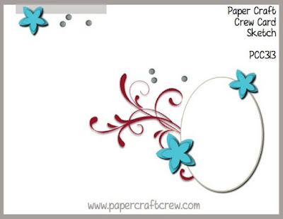 Paper Craft Crew Card Sketch Challenge #PCC313 from Mitosu Crafts UK