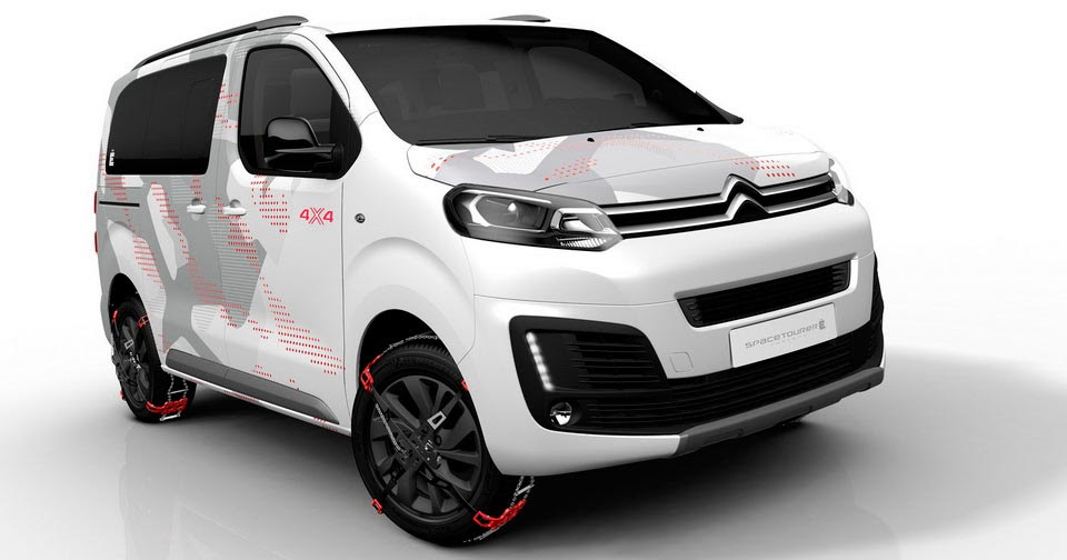 new citroen spacetourer 4x4 concept is a cool all terrain van. Black Bedroom Furniture Sets. Home Design Ideas