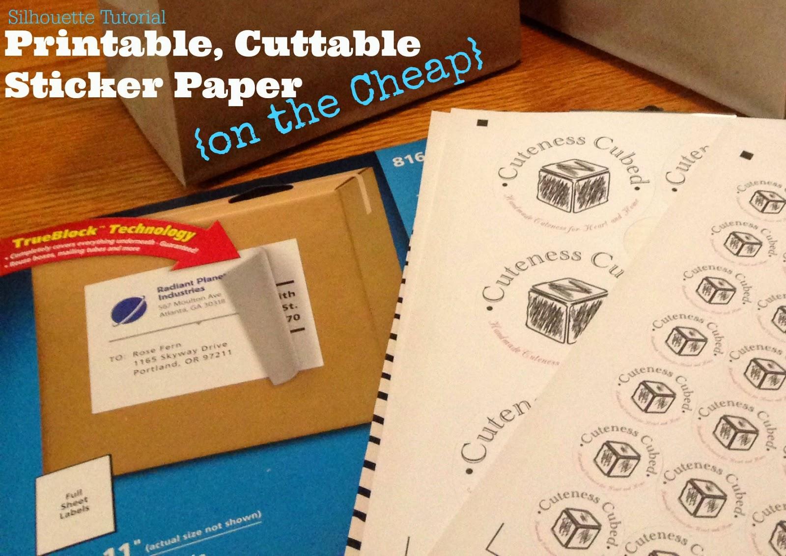 Silhouette White Sticker Paper Alternative On The Cheap