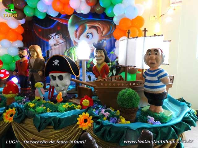 Mesa temática infantil Peter Pan - Festa de aniversário