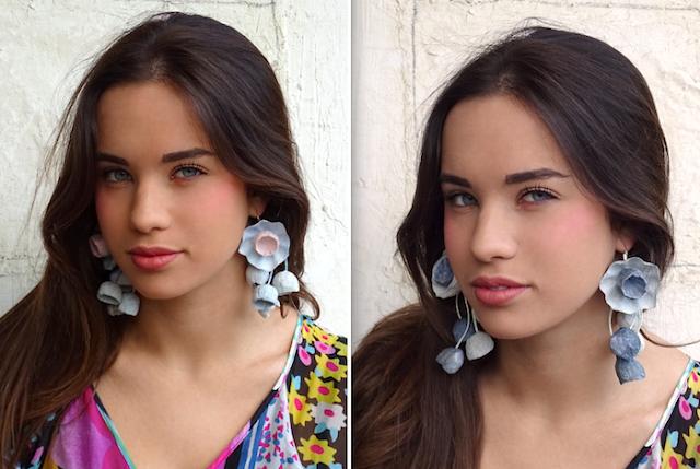 Gioielli di carta: Maxi orecchini di cartapesta in stile floreale di Alessandra Fabre Repetto
