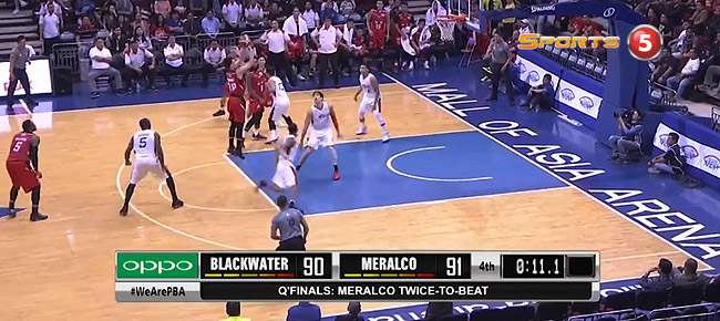 Blackwater def. Meralco, 92-91 (REPLAY VIDEO) September 26 / Quarterfinals