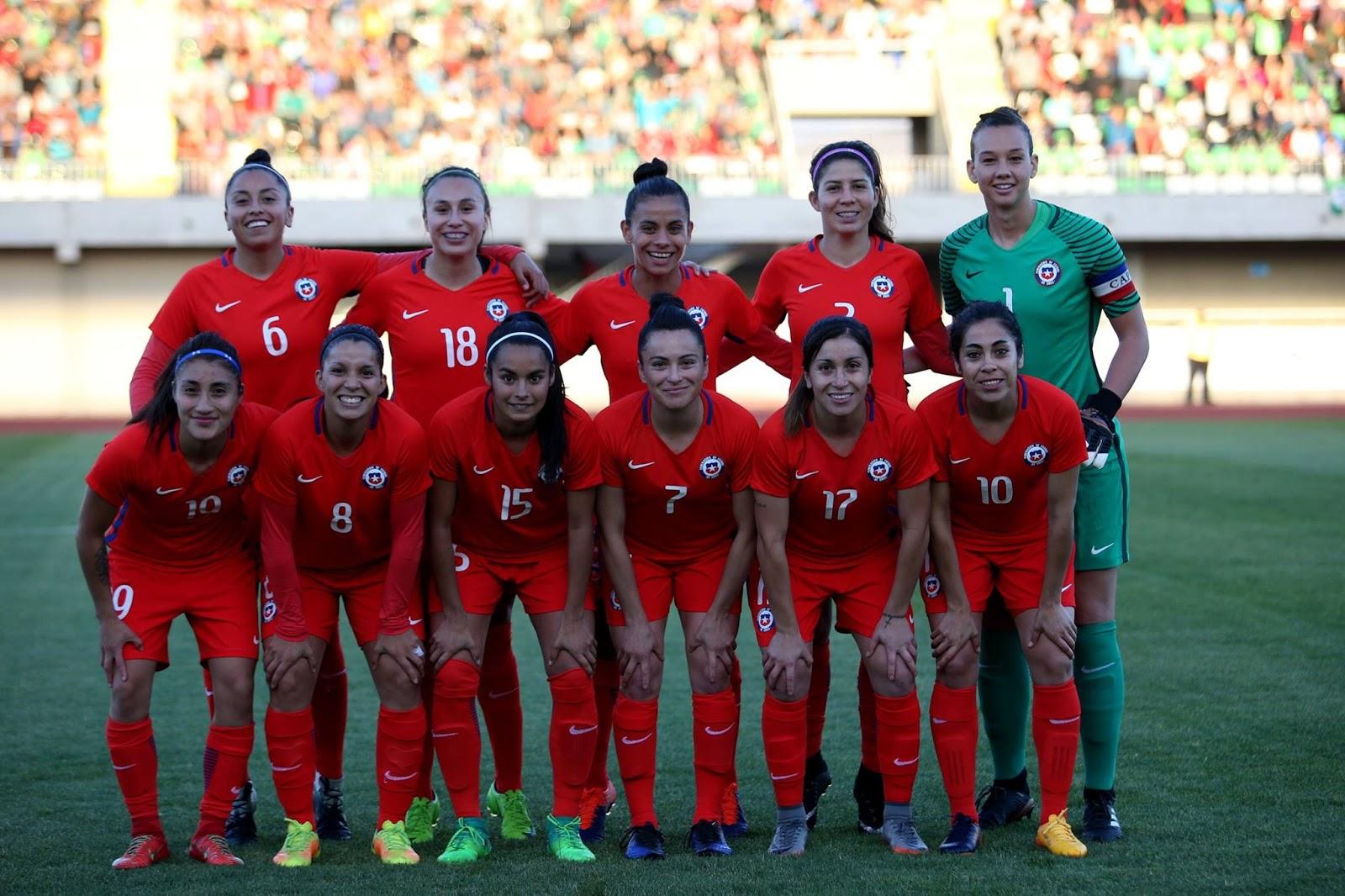Formación de selección femenina de Chile ante Brasil, amistoso disputado el 25 de noviembre de 2017