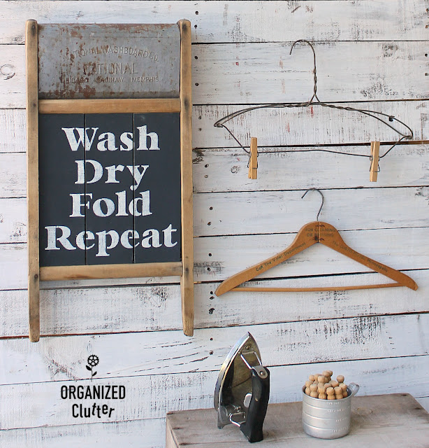 Rusty Vintage Washboard Laundry Room Sign #stencil #washboard #vintage #laundryroomdecor #laundry #signs