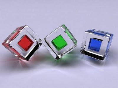Arte con cristal de colores