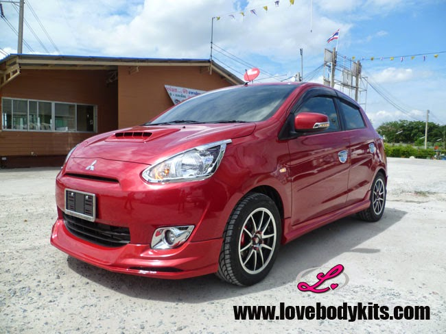 Body Kit Evo Sport - Mitsubishi Mirage samping depan