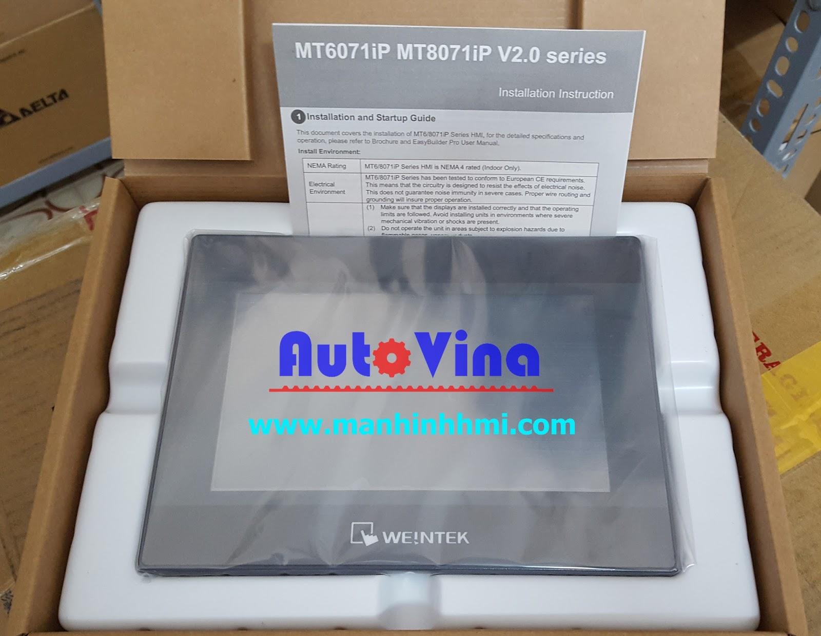 Đại lý bán màn hình cảm ứng HMI MT6071iP, hàng luôn có sẵn trong kho công ty Auto Vina