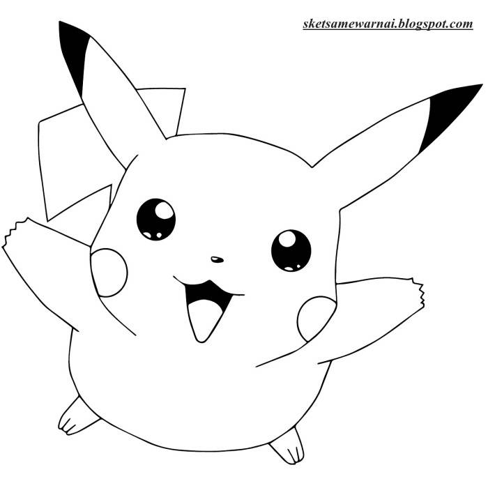 Sketsa Kartun Pikachu Related Keywords Suggestions Sketsa Kartun