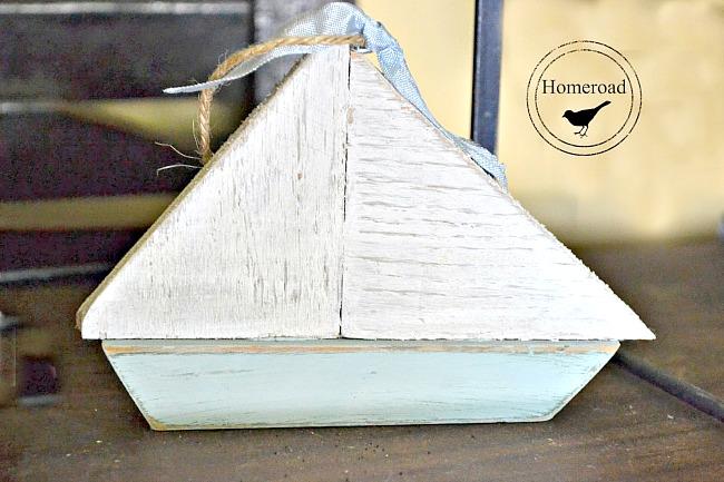 Scrap Wood Summer Sailboat Ornaments