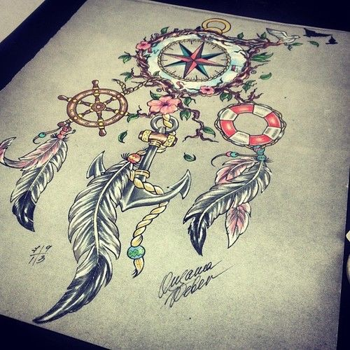 Mysterious Compass Tattoo Designs