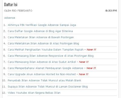 Cara Membuat Sitemap/Daftar Isi di Blog Berdasarkan Abjad