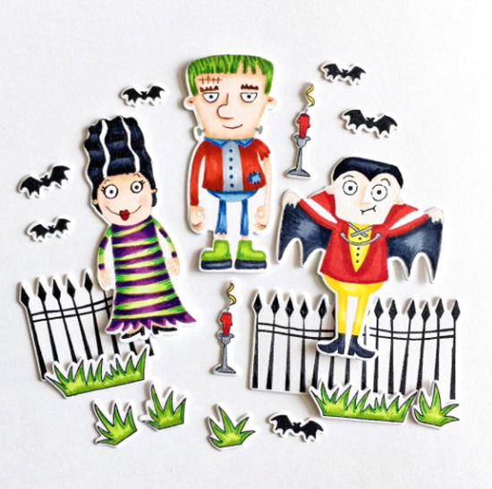 Frightful Friends stamp set and Die-namics - Suzy Plantamura #mftstamps