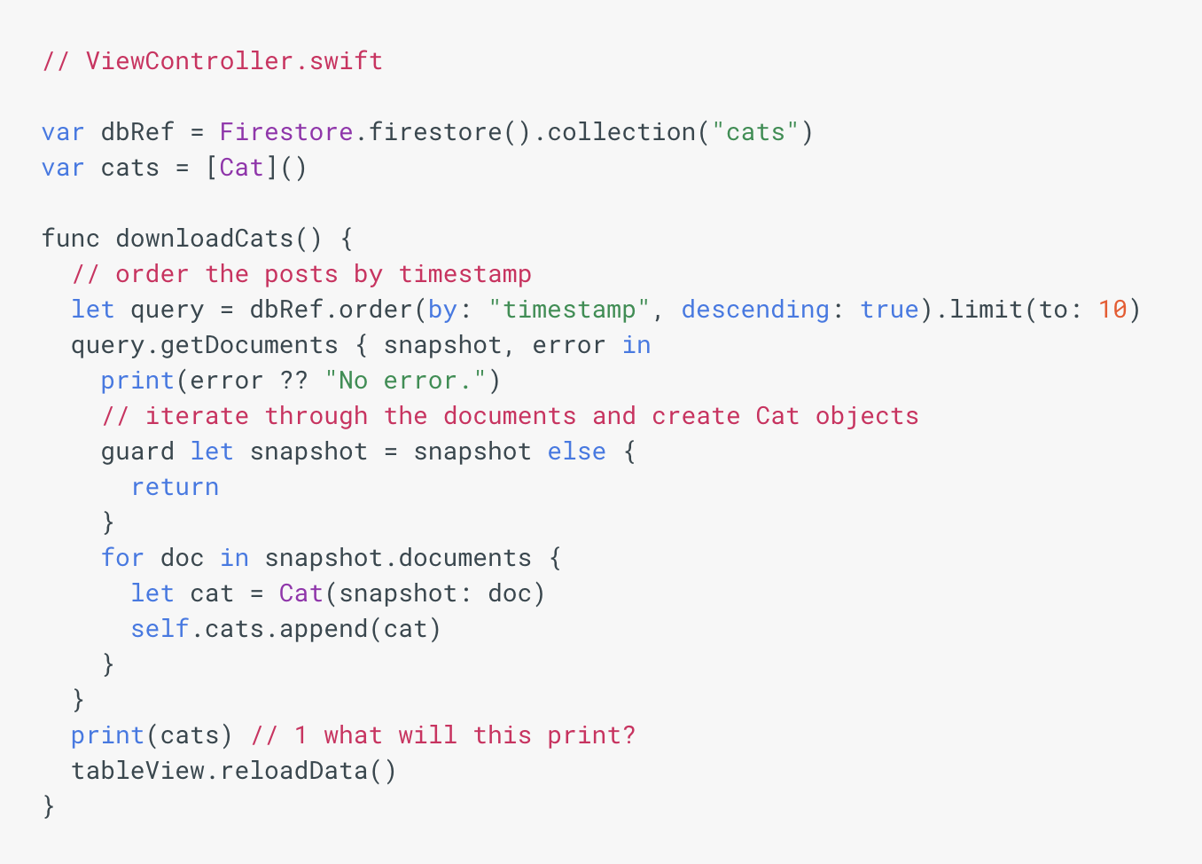 The Firebase Blog: Swift Closures and Firebase - Handling