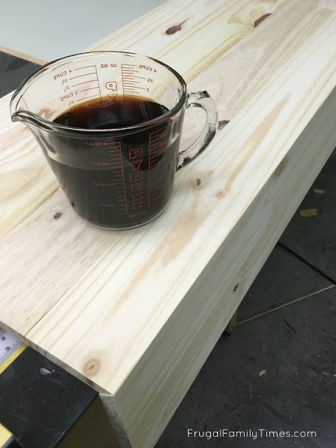 first step DIY reclaimed wood stain