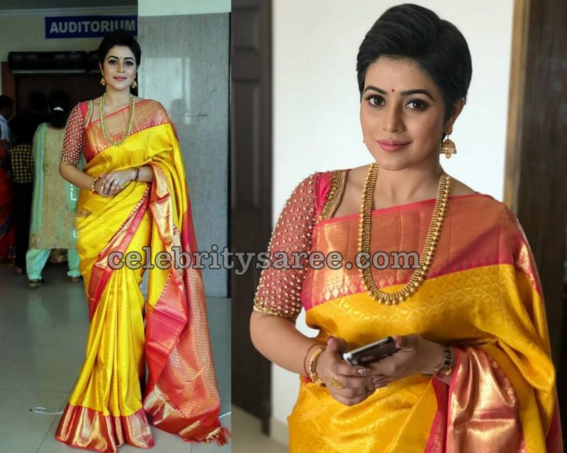 968187d31c Shamna Kasim at Bhavana Wedding - Saree Blouse Patterns