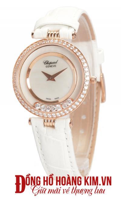 đồng hồ chopard nữ dây da sang trọng