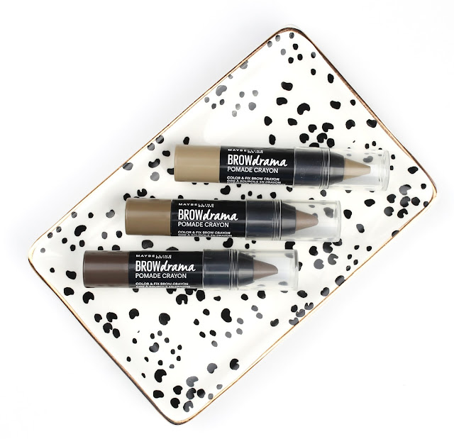 Maybelline Brow Drama Pomade Crayons review swatch swatches