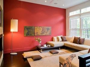 Sala color rojo