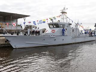27 meters Predator class patrol vessel in dock