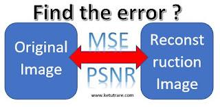 ilustrasi MSE dan PSNR antar dua gambar