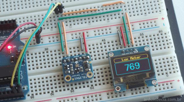 Sensor de lux luminosidade TSL2561 Arduino