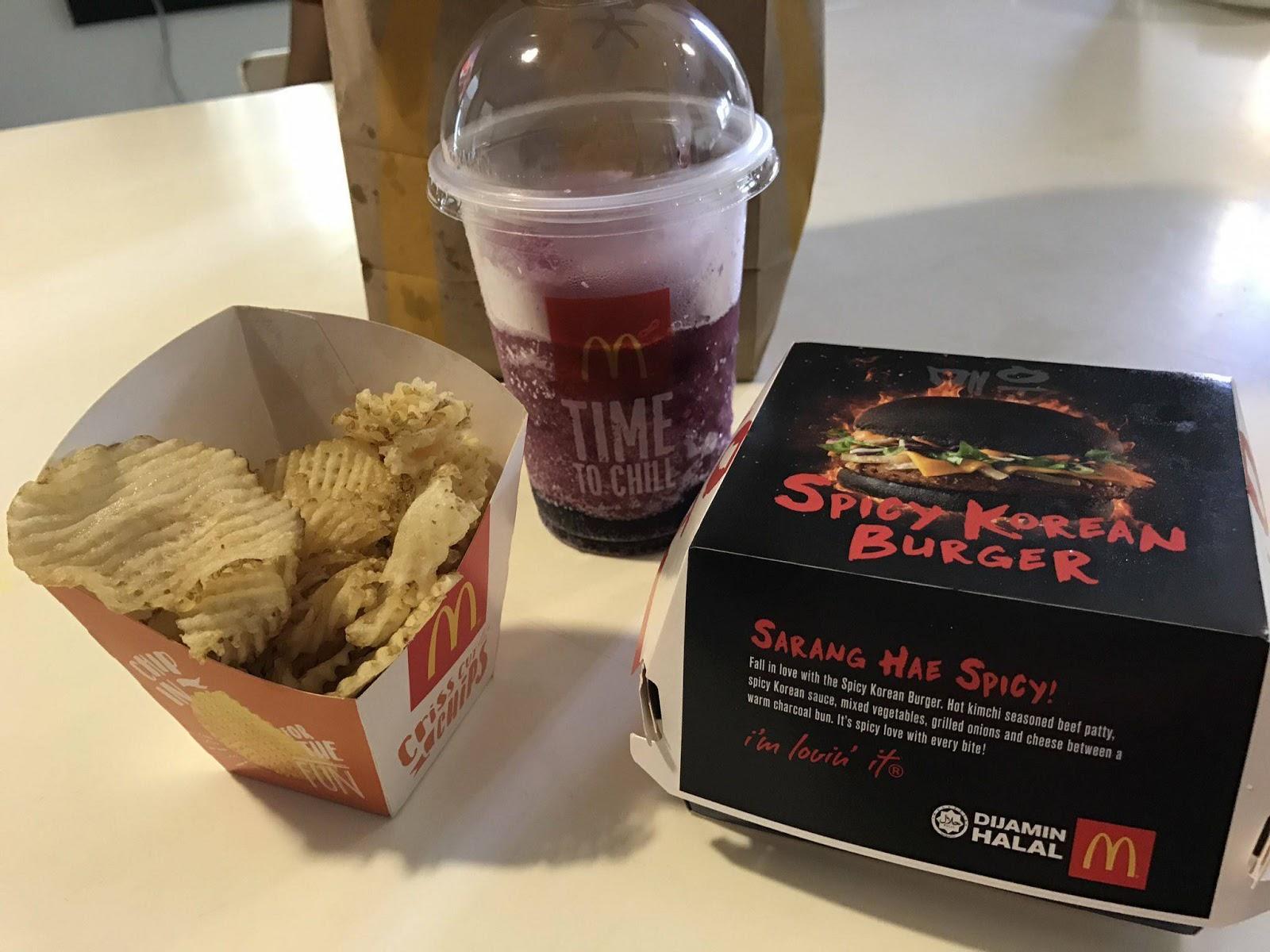 Mcdonald S Spicy Korean Burger Combo Set Malaysia Price