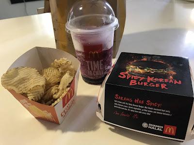 McDonald's Spicy Korean Burger Combo Set Malaysia Price