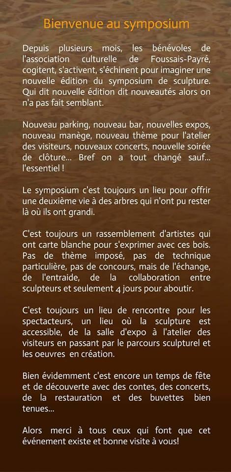 Symposium De Sculpture La Trononneuse Foussais Payr 85
