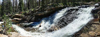 One of the Upper Provo River Falls from the Side