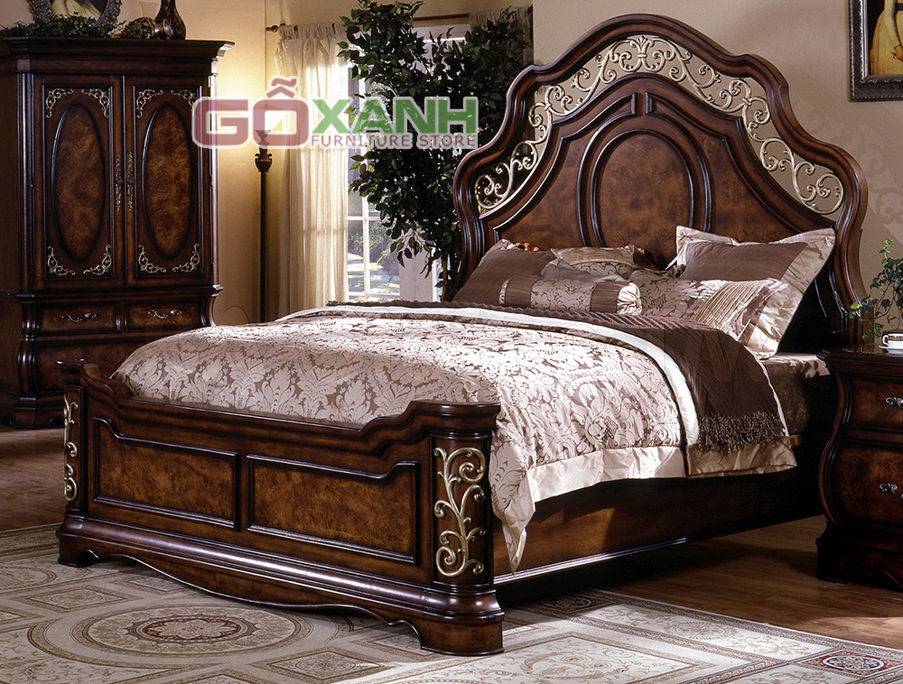 Giường Ngủ Gỗ Cổ điển đẹp Và độc đáo Chỉ Có Tại Gỗ Xanh