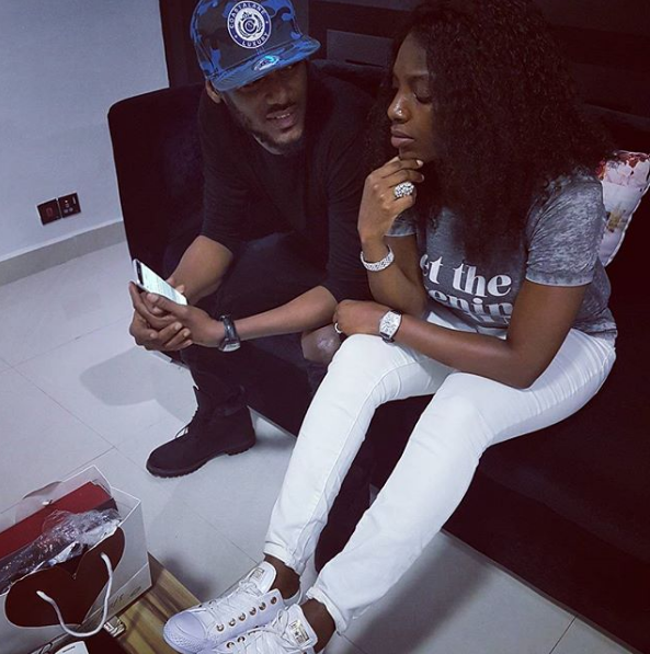 Fans give hilarious captions to this photo of 2face and Annie Idibia