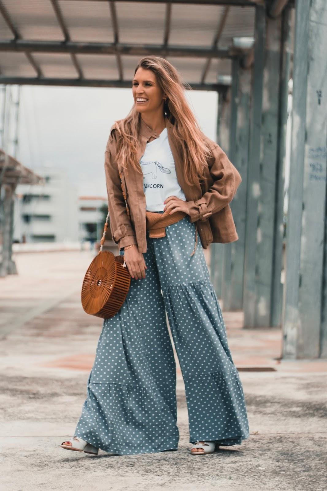 como llevar pantalones lunares 2018