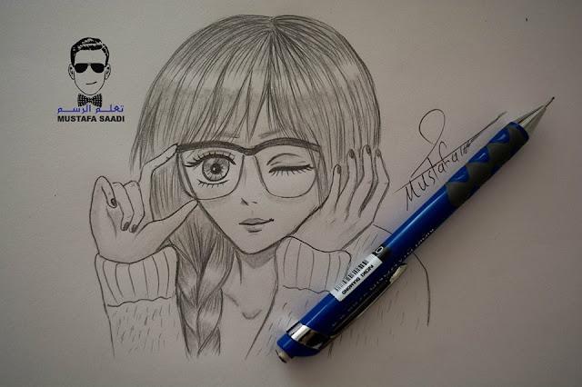 تعلم رسم فتاة انمي