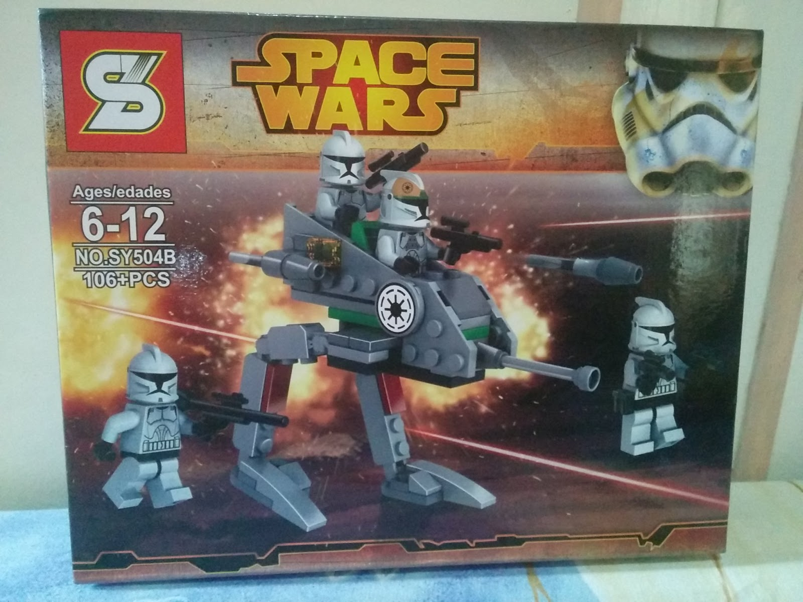 Downtheblocks Sy Sheng Yuan Star Wars Clone Walker Battle Pack