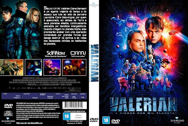 Capa DVD Valerian e a Cidade dos Mil Planetas [Custom]
