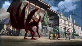 จักระเก้าหางที่ออกมาจากตัวนารูโตะ