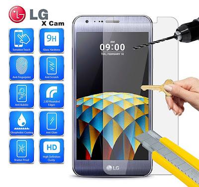 Spesifikasi LG X Cam     Pada sektor kamera LG X Cam ini memberikan komponen fotografi yang sangat berkualitas, hal ini bertujuan untuk mengoptimalisasi kemampuan fotografi pada LG X Cam ini. Sebagai kamera utamanya di bekali dual kamera berukuran 13 MP dan 5 MP yang mampu menghasilkan jepretan foto beresolusi sama baiknya, kamera utama ini juga dilengkapi dengan fitur modern seperti laser Autofocus dan juga LED Flash. Keberadaan fitur tersebut akan membantu meningkatkan kualitas fotografi smartphone ini, fitur – fitur fotografi modern lainnya seperti Geo-tagging, Touch Focus, Face Detection, Pannorama dan juga HDR pun juga tak lupa hadir pada ponsel pintar ini, sedangkan pada kamera depan smartphone ini dibekali dengan kamera berukuran 8 MP yang cukup menunjang untuk keperluan foto selfie dan videocall.        Pada sektor performa, dimana untuk spesifikasi dibagian dapur pacu ini tampaknya LG masih membawa spesifikasi smartphone menengah kebanyakan, dimulai dari chipset perangkat pintar LG X Cam ini menggunakan chipset Mediatek MT6753 yang memang marak digunakan pada banyak smartphone middle-range. Sedangkan pada bagian prosesor ponsel pintar ini ditenagai oleh prosesor Octa-core 1.14 GHz, secara kemampuan kombinasi tersebut pada ruang mesin LG X Cam memang cukup mumpuni untuk menopang kinerja operasional, apalagi