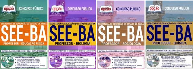 Apostila professor da SEEBA 2018 completa gratis testes em pdf.