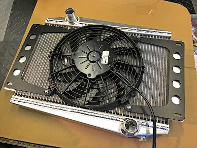 Radiator and fan assembly from Caterham Academy Car