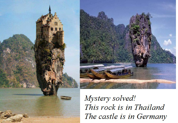 This is Ko Tapu, a 20 meters tall a limestone rock, Phang ... |Castle Rock Island