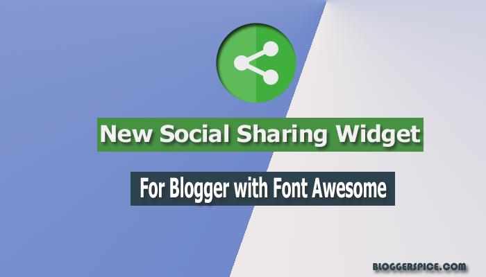 2016 social sharing widget