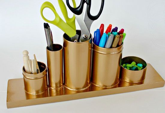 organizador escritório, organizador, faça você mesmo, diy, porta lápis, acasaehsua, a casa eh sua