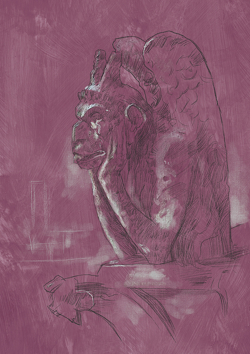Drawing 137 Gargoyle of Notre Dame
