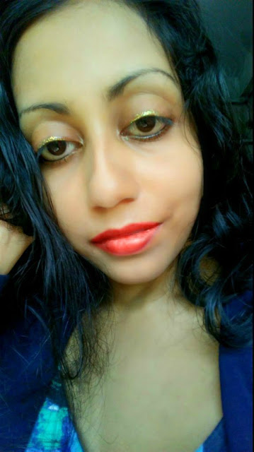 Me Wearing Kiko Milano Glitter Eyeliner 'on its own'