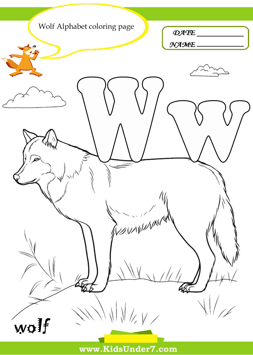 w coloring pages - photo #48