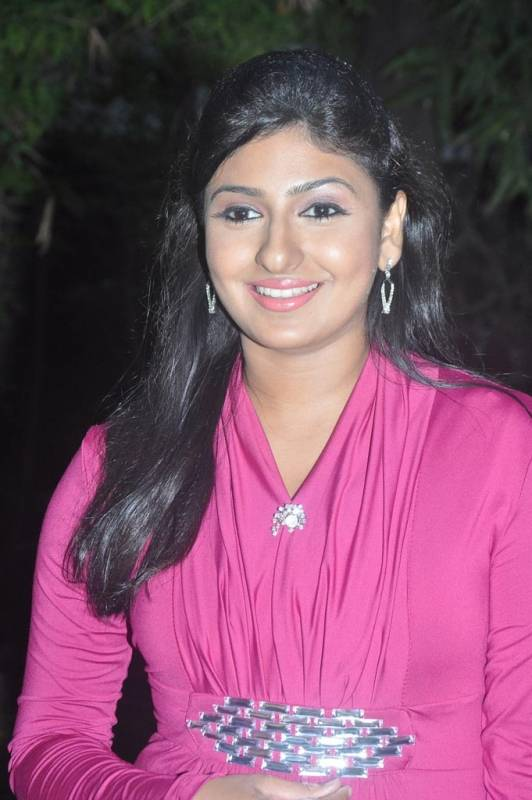 Tv Anchor Monica Photos At Movie Audio Launch In Pink Dress