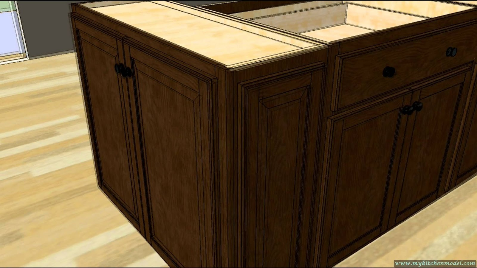 How to make a kitchen island with base cabinets kitchen for Kitchen island cabinets