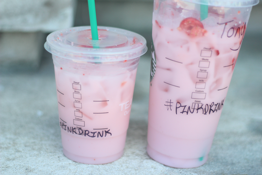 Starbucks, pinkdrink, summer