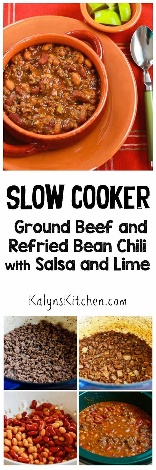 Slow Cooker Ground Beef and Refried Bean Chili with Salsa ...
