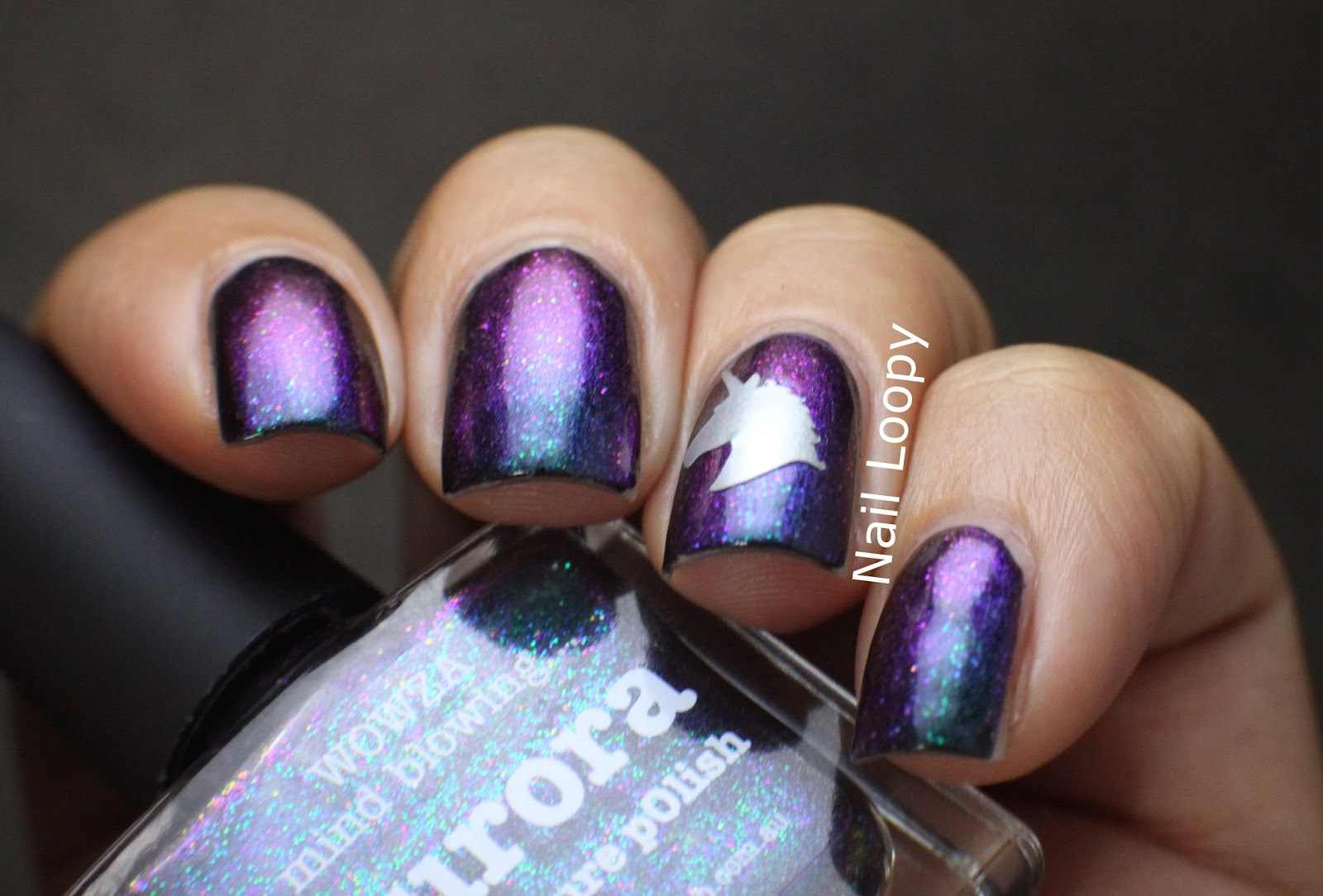 Nail Loopy Magical Unicorn Nails With Picture Polish Aurora